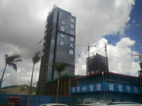 中國中冶橫琴總部大廈項目,淞江內外壓平衡波紋補償器,上海內外壓平衡波紋補償器