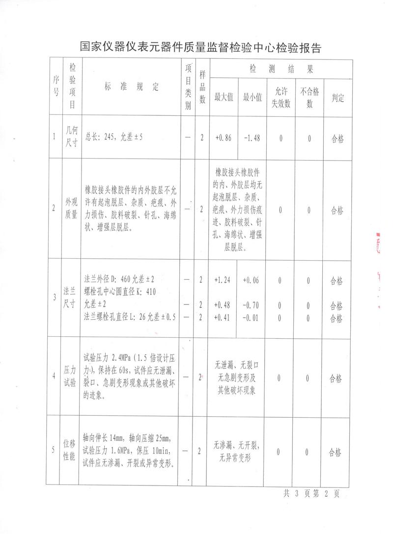 淞江集团非金属膨胀节特种设备报告